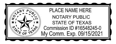 Texas Custom Selfinked Official Notary Seal Rubber Stamp Office Use