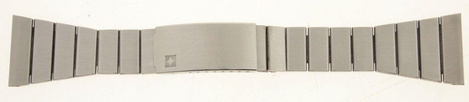Zenith Edelstahl Armband m Faltschließe - 25mm - u.a. El Primero 1960er / 1970er