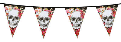 Guirlande de fanions halloween decoration day of the dead squelette jour morts - Guirlande De Halloween