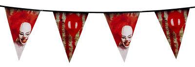 Guirlande de fanions halloween decoration clown tueur CA Effrayant Sanglante - Guirlande De Halloween