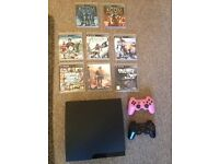 PS3, 2 Sony controllers, 8 top fantastic games!