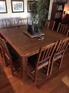 Early Settler Square 1500 Dining Table with 8 chairs Blackburn North Whitehorse Area Preview