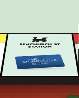 WANTED: Fenchurch Street Station McDonald's Monopoly Token