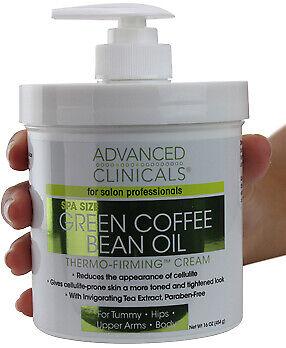 Advanced Clinicals Green Coffee Bean Oil Thermo Firming Cream 16 Oz (454g)