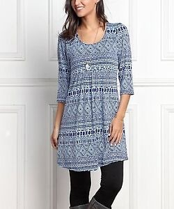Blue and navy print dress new with tags size 12
