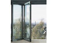2 Door Bi Folding Door NEW Glazed Opens In