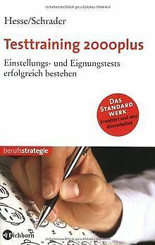 Testtraining 2000plus. Einstellungs- und Eignungstests e... | Buch | Zustand gut
