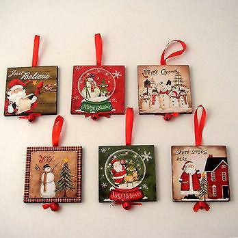 Wooden Christmas Decorations Christmas Ebay