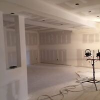 Drywall services. Boarding, Filling, Taping, and Repairs