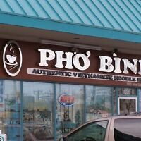 Tall Blonde Guy w beard at Pho west end