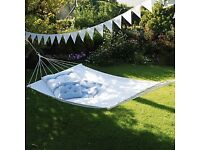 NEW The White Company - Double Hammock in White Brand new