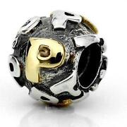 Pandora Silver and Gold Charm