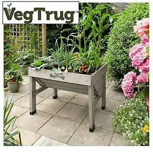 NEW VEGTRUG BED PLANTER VTGWS0391 250174990 GREY WASH CLASSIC RAISED