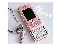 used mobile phone sony ericson pink w580