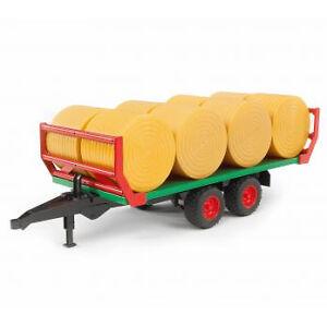 BRUDER 02220 Ballentransportanhänger mit 8 Rundballen günstig kaufen