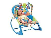 Mint condition fisher price 3 in one rocker bouncer and toddler chair