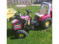 XL KIDS CASE TRACTORS AND TRAILER