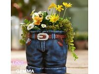Jeans Planter - BRAND NEW IN BOX