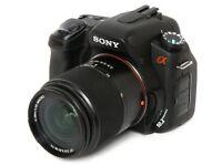 Sony a350 camera with 2 lens, 18-55 lens & 55-300 lens