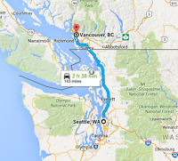 Ride sharing,Vancouver to Seattle, Wed Oct. 16 morning, $20
