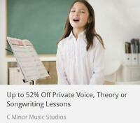 Huge Groupon Deal on Singing/Theory/Songwriting Lessons 52% Off!