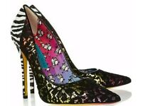 JIMMY CHOO 'Anouk125' designed by Artist Rob Pruitt UK5/38