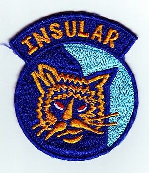 INSULAR - PHILIPPINE POLICE PATCH on BLUE