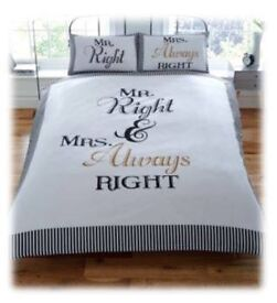 Mr Right & Mrs Always Right Duvet Set