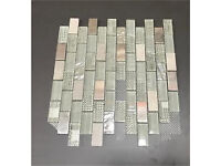 Clear Glass + Marble Mosaic Sheets, Suitable For Any Bathroom,Kitchen