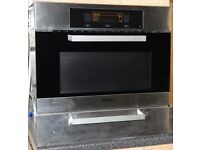 Miele microwave combination oven H 4081 BM and matching warming drawer EGW 4060-14, immaculate