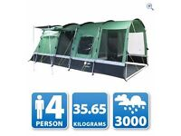 Corado 4 Family Tent Inc footprint and canopy