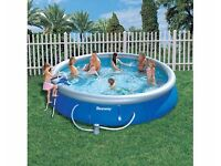 "Bestway Fast Set Pool 15' x 36"" with accessories"