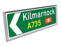 Road sign fridge magnet Kilmarnock
