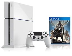 ps4 playstation 4 white/blanc and games