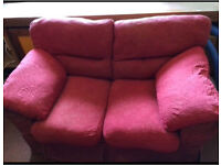 Free to collect, two and three seater sofa set.