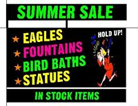 Summer Sale @ River City Statuary on Millar ave/45th