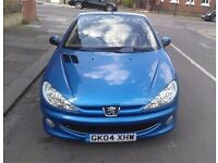 Peugeot 206 convertible 1.6 petrol engine very cheap to run with tax and insurance.