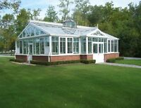 Conservatories,Solariums, folding glass walls,skylights