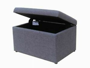 Faux Linen Storage Ottoman **Brand New Never Used**