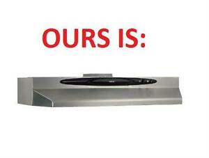NEW* BROAN UNDER CABINET RANGE HOOD 200 CFM, 36-Inch, Stainless Steel STOVE OVEN