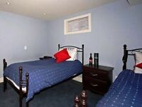 Bedroom set, two twin beds