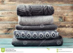 I need any size sweaters sweatshirts,tshirts for recycle pupose