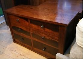 Solid wood 6 drawer chest of drawers