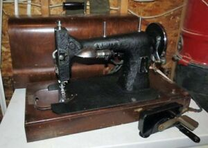 Antique White Rotary Electric Sewing Machine Circa 1927