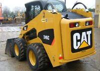 CAT 246 C for rent , FREE dump trailer