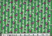Green Stripe Fabric