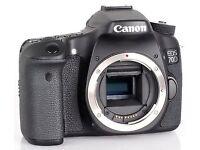 Canon EOS 70D Digital SLR Camera PACKAGE/KIT - lens, battery packs & charger, mic