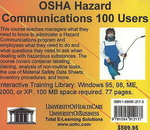 OSHA Hazard Communications, 100 Users, Daniel Farb