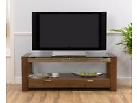 Cannes 150cm Walnut and Glass TV unit/cabinet