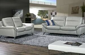 BRAND NEW REAL LEATHER SOFA SET (COUCH+LOVE SEAT) ON SALE